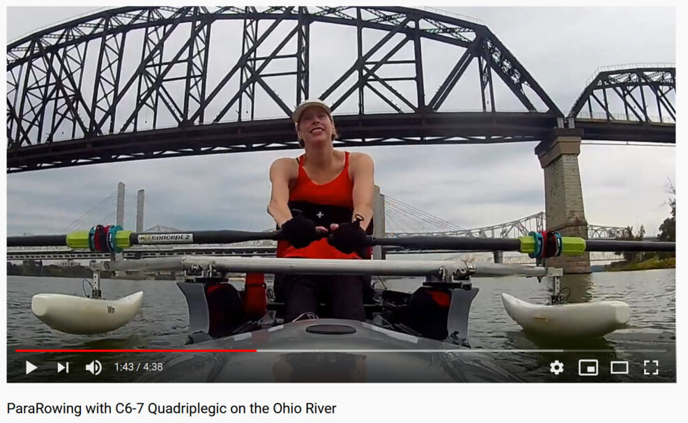 Jenny Smith Pararowing On The Ohio River