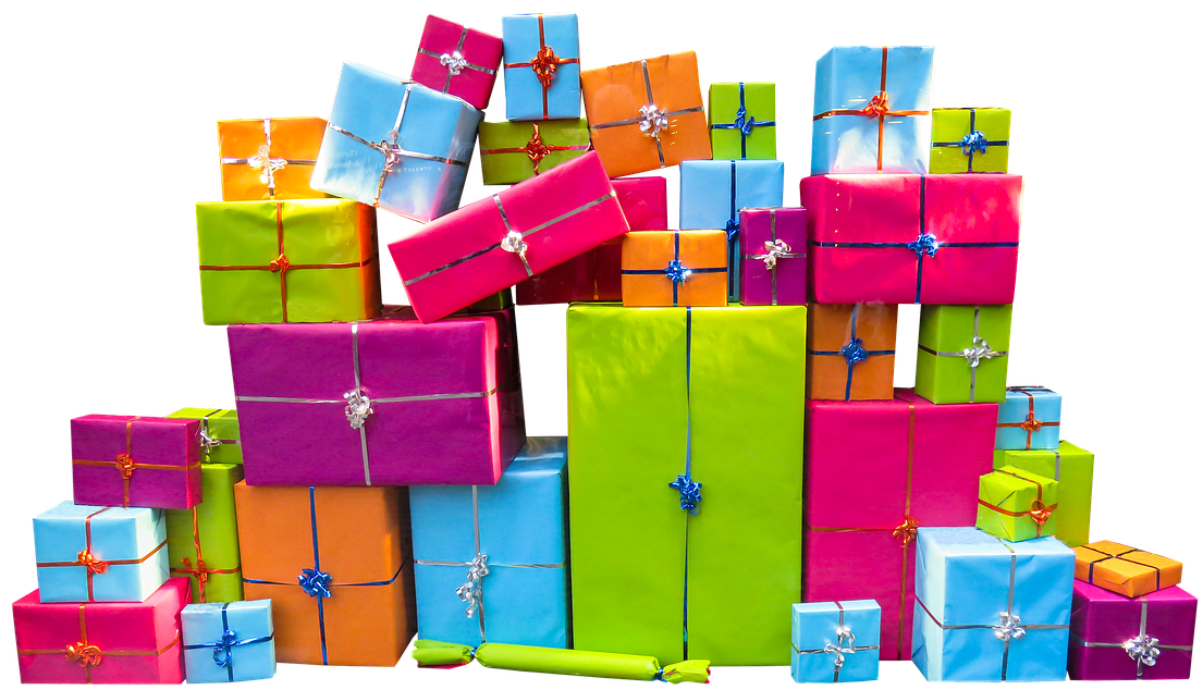Colorfuly Wrapped Gifts